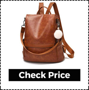 Stylish Travel Leather Backpacks for Women