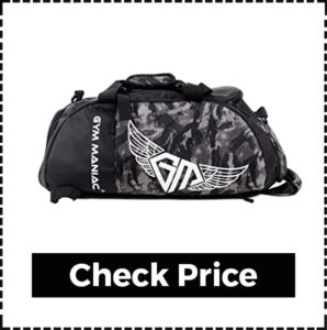 Gym Maniac GM 3 Way Crossbody Gym Bag